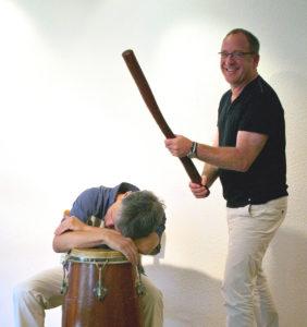 Trommellehrer Rainer Redeker und Jürgen Fischer